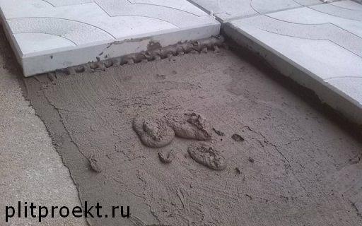 Укладка тротуарной плитки на бетонное основание в Одинцово