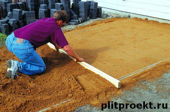 Преимущества и недостатки укладки тротуарной плитки на песок в Одинцово